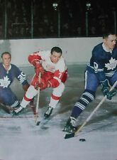 HOCKEY PRINT PHOTO NURM ULLMAN DETROIT VS BRUCE GAMBLE G.ARMSTRONG TORONTO  NU15