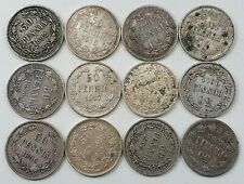 Russia / Finland 50 Pennia 1865-1917, 12 Pcs Lot, All different - SILVER COINS!!