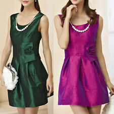 Satin Patternless Dresses for Women