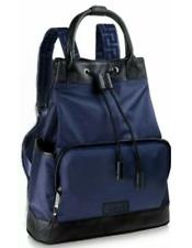 NEW! Versace Parfums Backpack Black/Blue Drawstring/Handles Sport Rucksack Bag