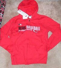 NEW MLB Cincinnati Reds Hoodie Hooded Sweatshirt Women Ladies M Medium NEW NWT