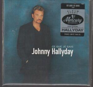 Johnny Hallyday Vinyl Replica Album Story Ce Que Je Sais Cd Neuf 7000Ex