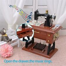 Vintage Music Box Mini Sewing Machine Style Birthday Gift Table Decor New AU