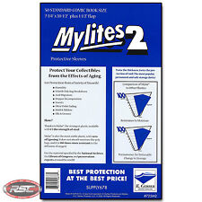 50 - E. Gerber MYLITES 2 STANDARD 2-Mil Mylar Comic Bags Sleeves - 725M2