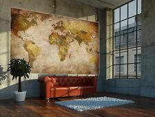World Map Wallpaper Poster Vintage Retro Wall Mural Unique Decoration XL Photo