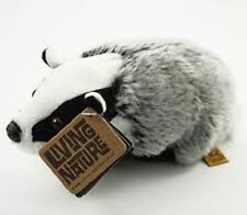 LIVING NATURE MEDIUM BADGER - SOFT BEAN KIDS TOY CUDDLY EDUCATIONAL TEDDY AN234