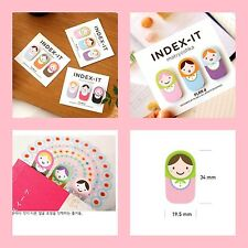 Japan Baby Dolls: Post-it Memo paper pad desktop sticky notes flags Bookmarks