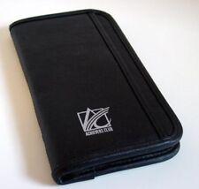 2 - Black Zippered Travel Wallet Passport Automotive Glovebox Document Organizer