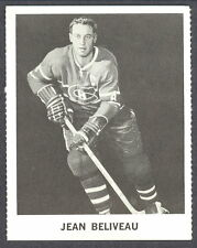 1965 COCA-COLA COKE JEAN BELVEAU MONTREAL CANADIENS HOCKEY CARD