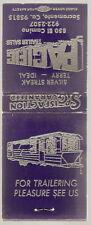 Vintage Matchbook PACIFIC TRAILER SALES Travel House CA