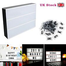 NEW A4 LIGHT UP LETTER BOX CINEMATIC LED SIGN PARTY WEDDING PLAQUE SHOP CINEMA