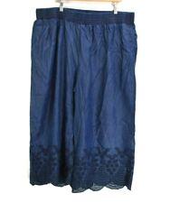 New Mark Women's 2X Pull On Elastic Waist Flowy Leg Casual Pants Pockets