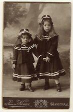 PORTRAIT OF TWO INCREDIBLY PRECIOUS SISTERS IN BELGRADE, SERBIA  (CABINET CARD)