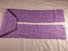 Leopard Skin Pink Purple Blue spots Fleece Scarf Animal Print