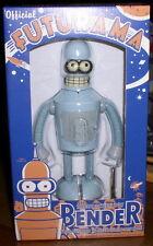 Futurama Tin Wind up Robot Grey Bender Rocket USA