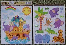 Childrens Kids Girls Boys Noahs Noah's Ark Wall Stickers Decals Stickarounds
