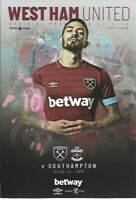 West Ham United v Southampton 4th May 2019 Match Programme 2018/19