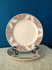 "Mikasa Intaglio Santa Fe Pattern CAC24  11-1/8"" Dinner Plates  Set of (2)"
