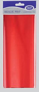 Metallic Wrap Red 4 sheets 50cm x 75cm - Gift Wrapping Paper Foil Presents