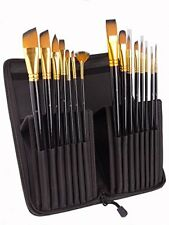 Paint Brushes - 15 Pcs Artist Brushes Set for Watercolor, Acrylic, Oil  Face Pa