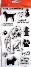 Dog Barking Mad Fiskars Clear Acrylic Stamp Set NEW! 146910-1001