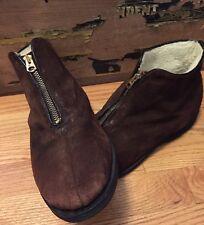 Vintage Suede Brown Talon Zipper Liner Winter Shoes. Size 10.5 D Rare!!