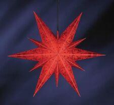 Estrella Decoración 11zack ILUMINADO De Luz 60cm Rojo Plástico Navidad