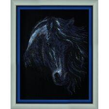 Beaded embroidery kit Horse Charivna mit Kit avec perle Beaded needlepoint