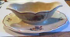 Saucière  fleurie « Agreste Sarreguemines France » - très ancienne -