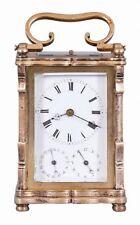 Austria, an unusual three train carriage clock with Viennese striking... Lot 885