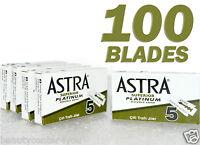 100 pcs Astra Superior Platinum Double Edge Shaving Razor Blades