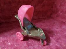 Fisher Price Loving Family Dollhouse Nursery Baby Stroller Pink Wheels New