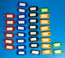 Plastic Key Tags Assorted Key Rings Luggage ID Tags Name Card Label (33) Count