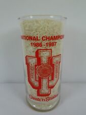 IU 1986-'87 Basketball National Champions Steak N Shake Glass Indiana University