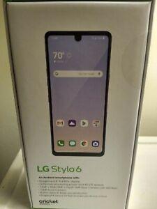 LG Stylo 6 LMQ730AM - 64GB - Blue (Cricket Wireless) Brand new