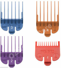 Wahl Colour Clipper Comb Attachment #1 to #4 (Sterling 4, Super Taper) WA3163