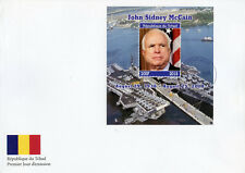 Chad 2018 FDC Senator John McCain 1v M/S Cover Politicians Famous People Stamps