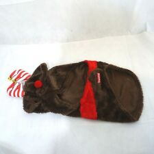 SimplyDog Reindeer Costume Dog Puppy Size M Brown Red Christmas