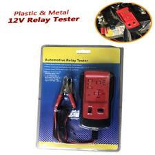 Portable 12V Car Automotive Diagnostic Tool Battery  Relay Tester Alligator Clip