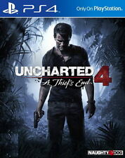 Uncharted 4 A Thief's End PS4 Games Sony PAL New Playstation 4 A Thiefs End