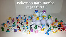 Pokemon Toy inside Poke Ball Bath Bomb  - Lot of 6 Ultra Lush assorted scent