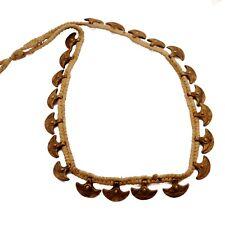 "30"" Tibetan Nepalese Handicraft Un2060 Old Antique Brass Axe Naga Necklace"