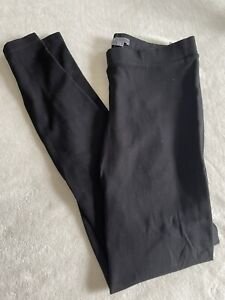 Vince Womens Pull On Skinny Leg Leggings Black Size L