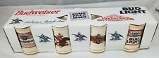 1996 Budweiser 4-Pack Mini Steins - Features, Bud Light ®, A&Eagle ® Clydesdale