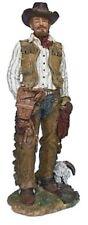 Décoration WESTERN COWBOY AVEC LASSO figurine 32 cm grand peintes à la main de moulés
