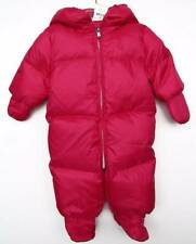 Ralph Lauren Baby Girls Currant Pink Down Puffy Hooded Snowsuit (9M) NWT