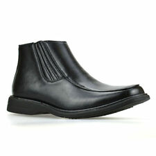 Synthetic Leather Slip On Boots for Men