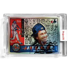 2021 Topps Project 70 #95 Gary Carter Holographic Foil 40/70 by Gregory Siff