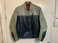 VINTAGE BMW LEATHER MOTORCYCLE JACKET SIZE 27 / M