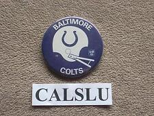 "VINTAGE 1970's - 1980's ☆RARE☆ BALTIMORE COLTS 3 1/2"" ☆HELMET☆ PIN BACK BUTTON"